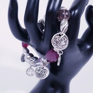 Passionista Purple and Silver Bracelet